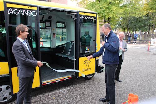 Autonom buss testes i Kongsberg. Foto NCE Systems Engineering