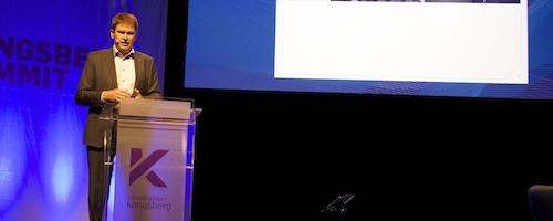 Hans Peter Havdal på Kongsberg Summit