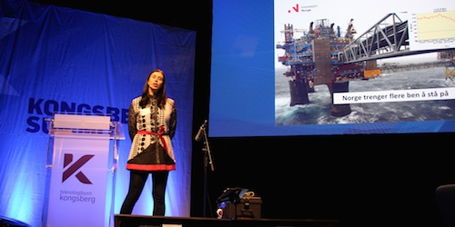 Mona Skaret på Kongsberg Summit. Foto: NCE SE